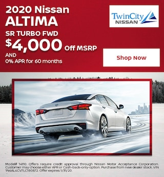January 2020 Nissan Altima SR Turbo FWD