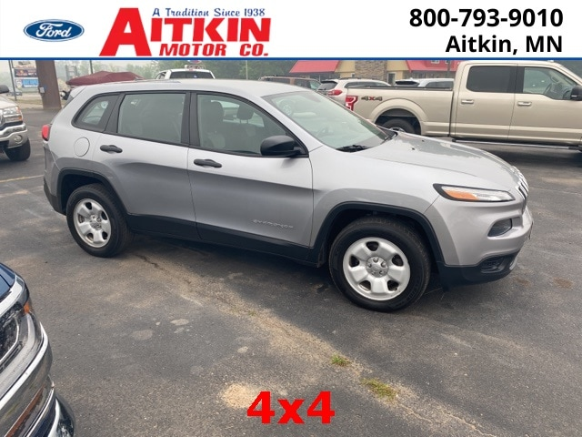 Used 2014 Jeep Cherokee Sport with VIN 1C4PJMAB5EW173956 for sale in Aitkin, Minnesota