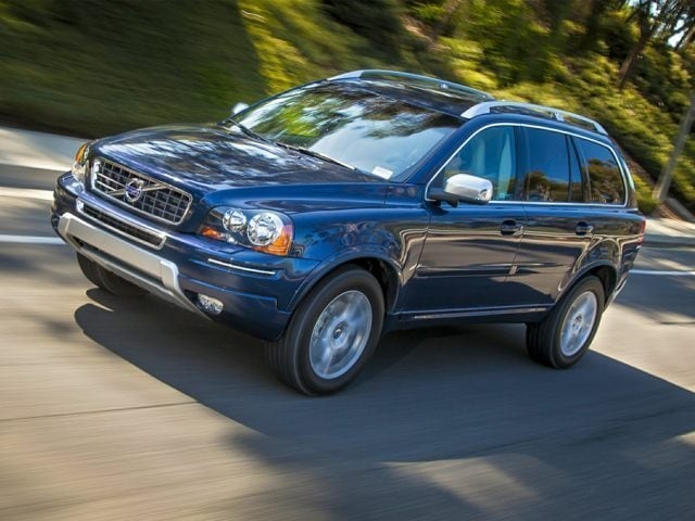 Midnight Blue Volvo XC90 driving along a highway