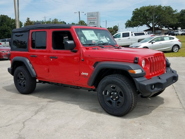 New 2018 Jeep Wrangler UNLIMITED SPORT 4X4 Sport Utility For Sale Wauchula, Florida