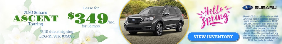 May 2020 Subaru Ascent Touring Lease Offer