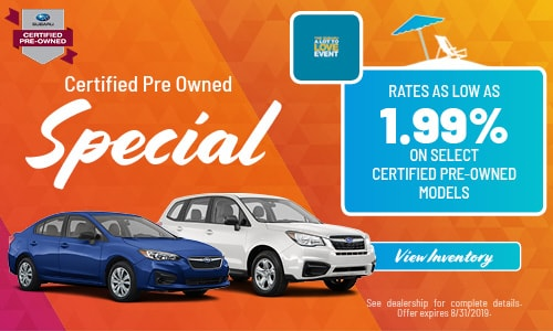 August Certified Pre-Owned Finance Offer
