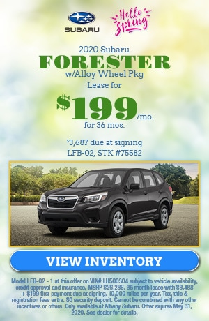 May 2020 Subaru Forester w/Alloy Wheel Pkg Lease Offer