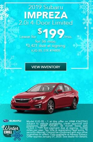 January 2019 Subaru Impreza 2.0i 4-Door Limited Lease Offer