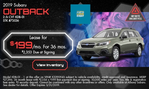 March '19 Outback Lease Offer
