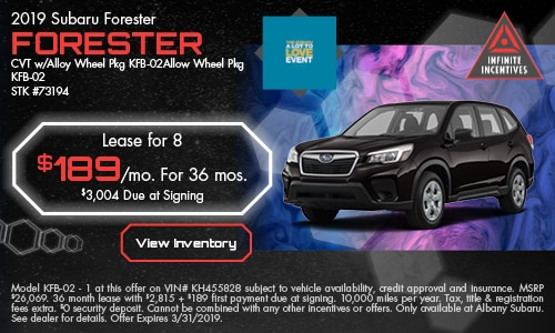 march '19 Forester Lease Offer
