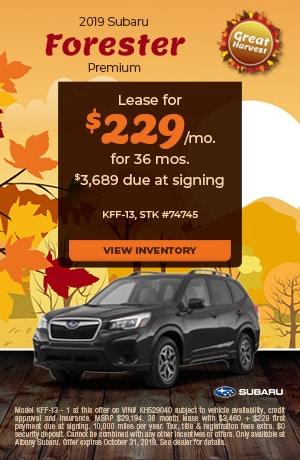 October 2019 Subaru Forester Premium Offer