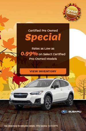 October Certified Pre Owned Special