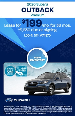 December 2020 Subaru Outback Premium Lease Offer