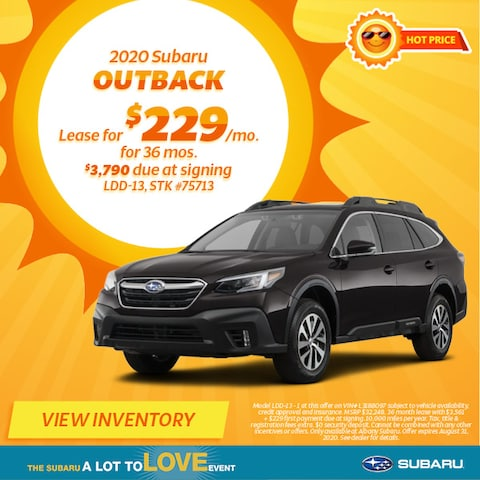 August 2020 Subaru Outback Lease Offer