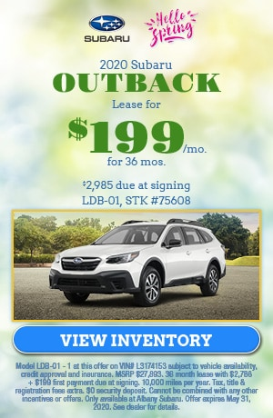 May 2020 Subaru Outback Lease Offer