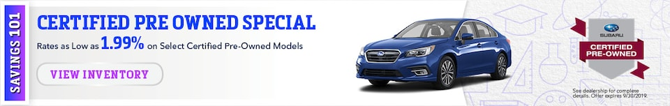 September Certified Pre-Owned Specials
