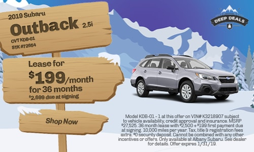 January Outback Offer