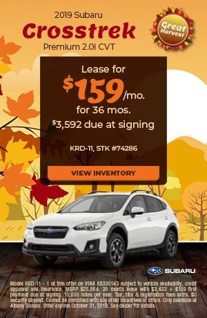 October 2019 Subaru Crosstrek Premium 2.0i CVT Offer