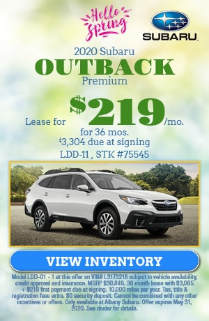 May 2020 Subaru Outback Premium Lease Offer
