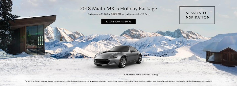 Financing Offer : 1.9% APR for 72 months on select Mazda models