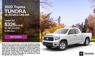 2020 Toyota Tundra SX Double Cab 4x4