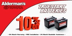 Save 10% on your next car battery
