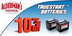 10% off TrueStart Car Batteries