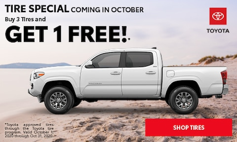 TIRE SPECIAL COMING IN OCTOBER