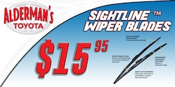 20% off SightLine Wiper blades