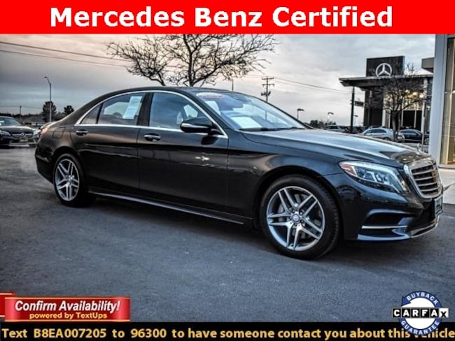 Certified Pre-Owned 2014 Mercedes-Benz S-Class S 550 Sedan For Sale Midland, Texas