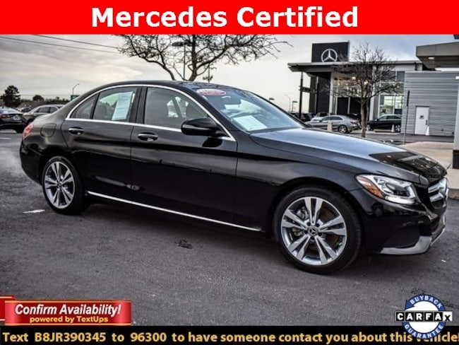Certified Pre-Owned 2018 Mercedes-Benz C-Class C 300 Sedan For Sale Midland, Texas