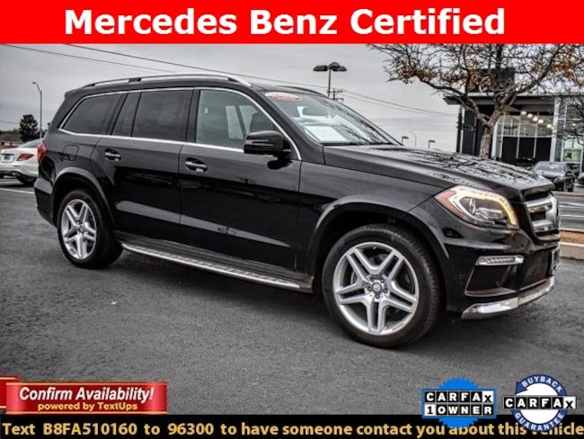 Certified Pre-Owned 2015 Mercedes-Benz GL-Class GL 550 4MATIC SUV For Sale Midland, Texas