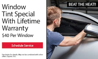 Window Tint Special With Lifetime Warranty