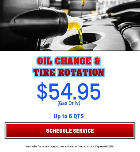 Oil Change and Tire Rotation Gas 9/5/2019