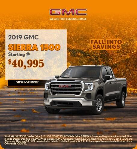 2019 GMC Sierra 1500 10/4/2019
