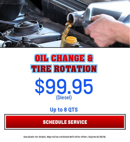 Oil Change and Tire Rotation Diesel 9/5/2019