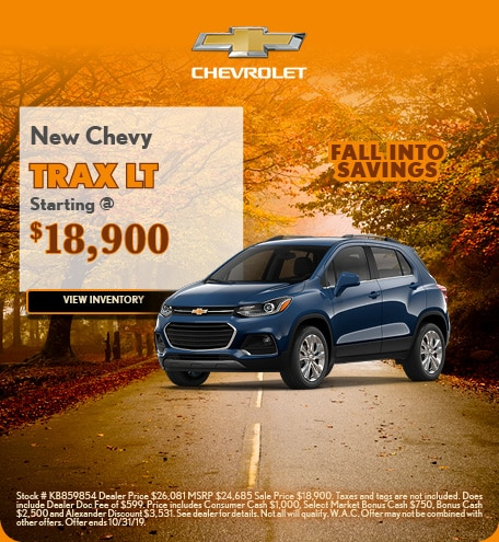New Chevy Trax 10/4/2019