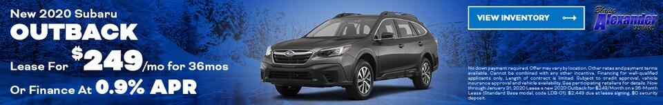 January 2020 Subaru Outback Lease
