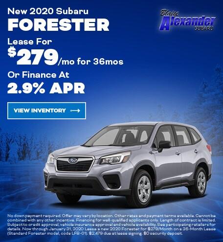 January 2020 Subaru Forester Lease