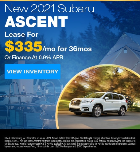 New 2021 Subaru Ascent