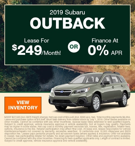 June 2019 Outback Lease