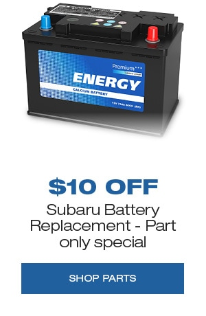 Subaru Battery Replacement, Part only special