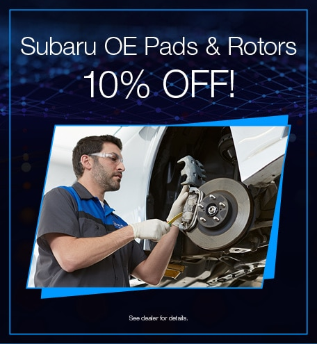 Subaru OE Pads and Rotors