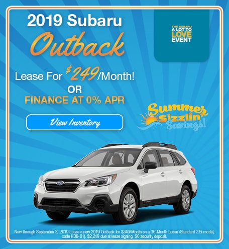 August 2019 Outback Lease