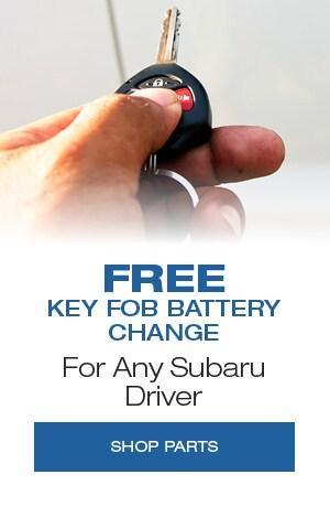 Free key fob battery change for any Subaru Driver