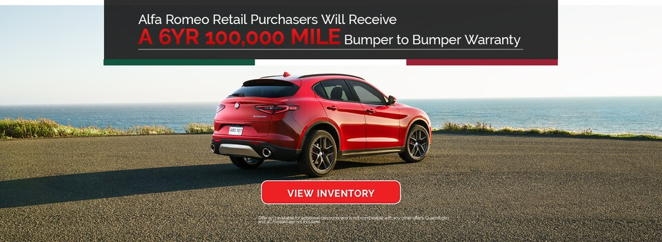 6YR 100,000 Mile Bumper to Bumper Warranty