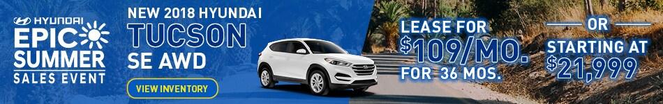 New 2018 Hyundai Tucson Special
