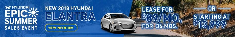 New 2018 Hyundai Elantra Special