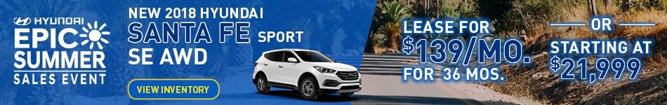 New 2018 Hyundai Santa Fe Sport Special