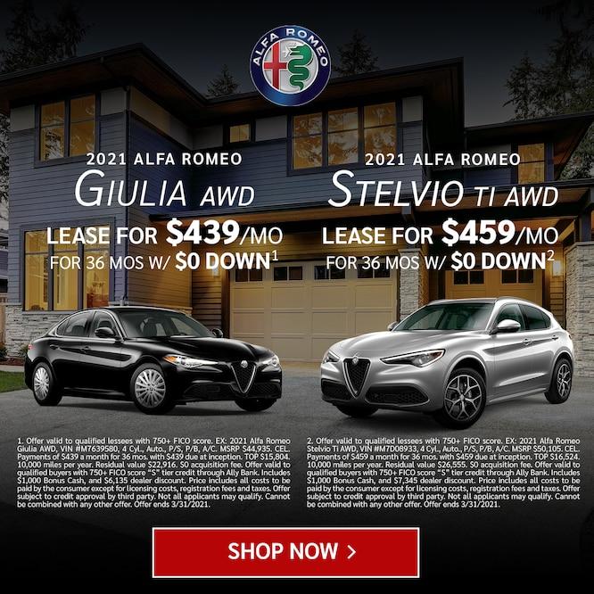 Giulia AWD & Stelvio TI AWD Lease Specials