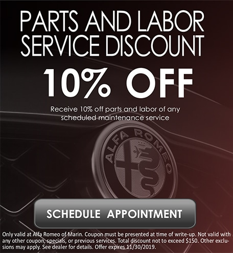 Parts and Labor Service Discount