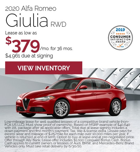 Alfa Romeo Giulia Lease Offer