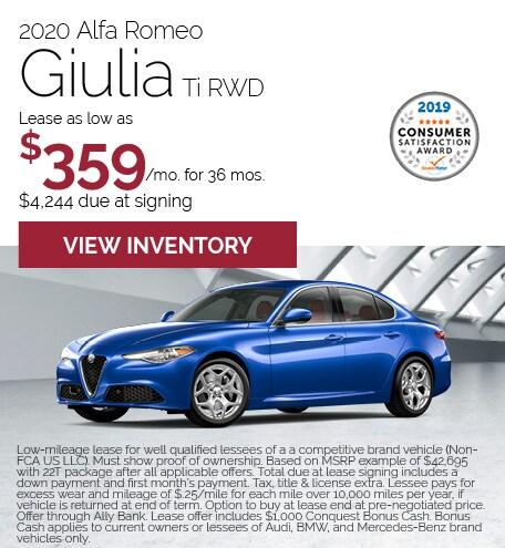 Alfa Romeo Giulia Lease Offer