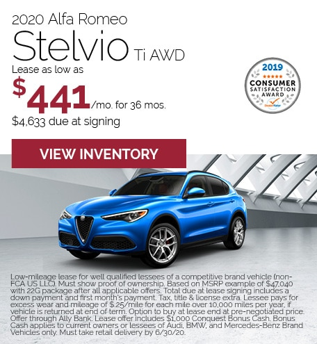 Alfa Romeo Stelvio Lease Offer
